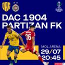 FC DAC 1904 Dunajská Streda - FK Partizan Belehrad