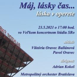 Máj, lásky čas – májový koncert Metropolitného orchestra Bratislava